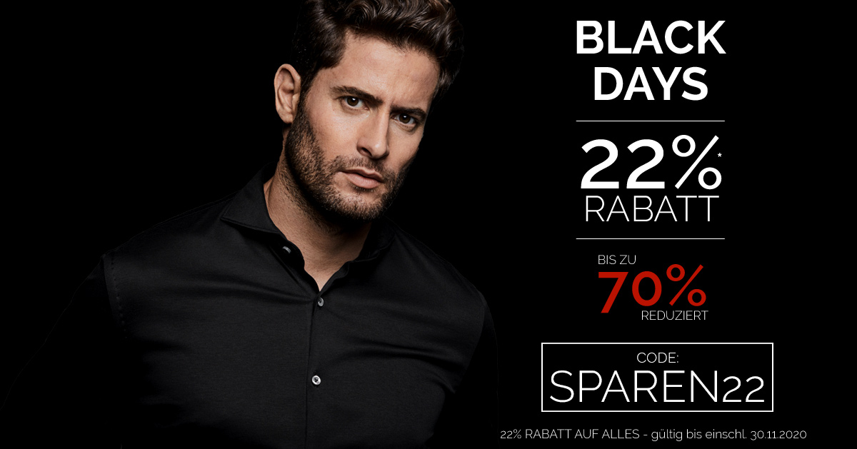 22% RABATT auf alles - BLACK WEEK